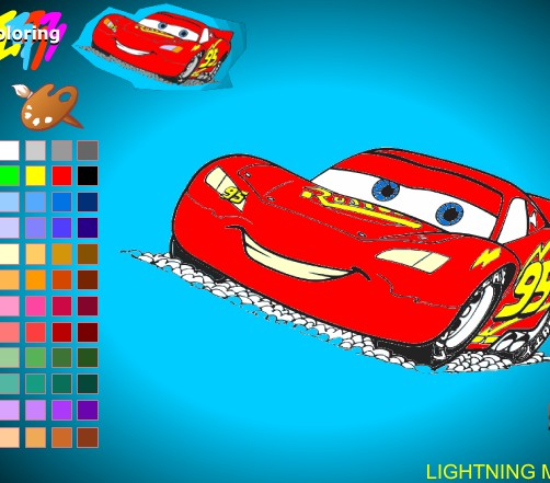 Play Mcqueen Cars Scene Game