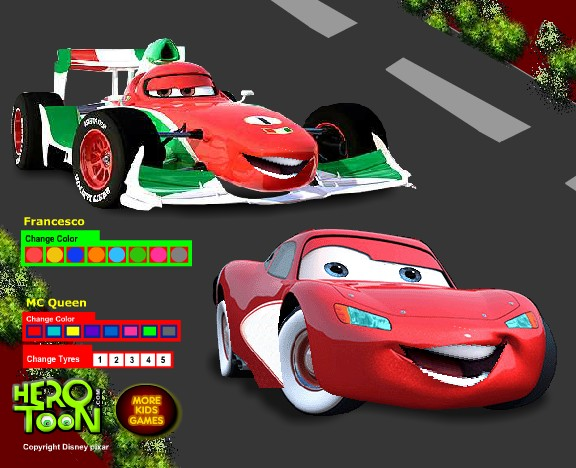 Play Cars 2 Francesco Coloring Game Game