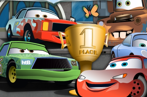 Play Lightning McQueen Puzzle with Friends Game